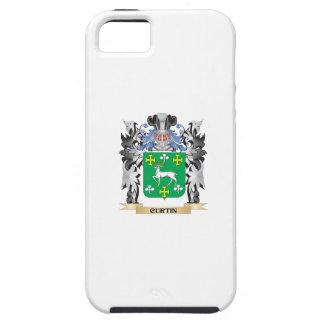 Escudo de armas de Curtin - escudo de la familia iPhone 5 Carcasa