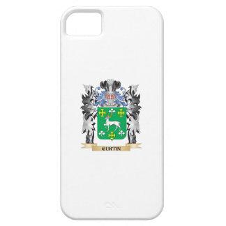 Escudo de armas de Curtin - escudo de la familia iPhone 5 Carcasas