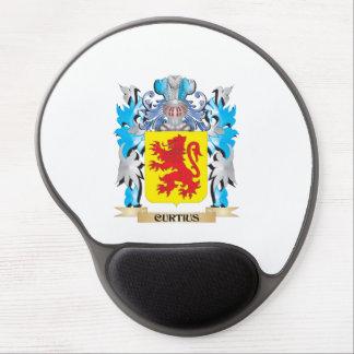Escudo de armas de Curtius - escudo de la familia Alfombrillas De Ratón Con Gel