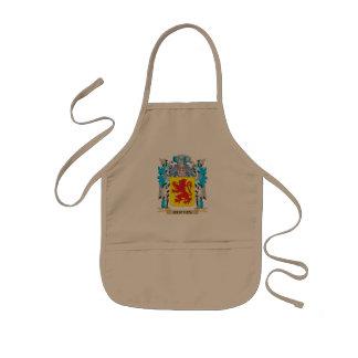 Escudo de armas de Curtius - escudo de la familia Delantal Infantil