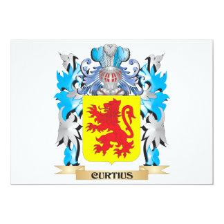 """Escudo de armas de Curtius - escudo de la familia Invitación 5"""" X 7"""""""