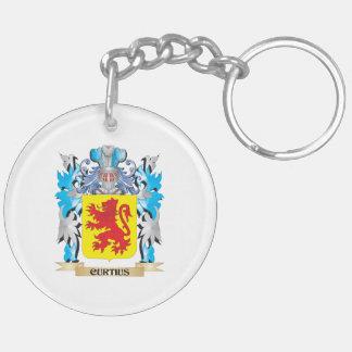 Escudo de armas de Curtius - escudo de la familia Llavero Redondo Acrílico A Doble Cara