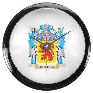 Escudo de armas de Curtius - escudo de la familia Reloj Aqua Clock