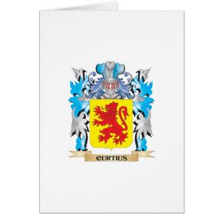 Escudo de armas de Curtius - escudo de la familia Tarjeta De Felicitación