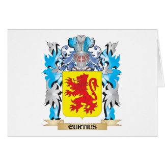 Escudo de armas de Curtius - escudo de la familia Tarjeta Pequeña