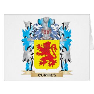 Escudo de armas de Curtius - escudo de la familia Tarjeta De Felicitación Grande