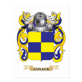 Escudo de armas de Cusack Tarjeta Postal