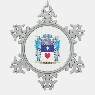 Escudo de armas de Custer - escudo de la familia Adornos