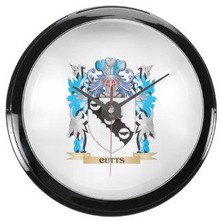 Escudo de armas de Cutts - escudo de la familia Reloj Aquavista