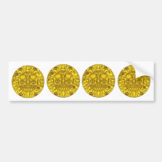 Escudo de armas de Cuzco Etiqueta De Parachoque