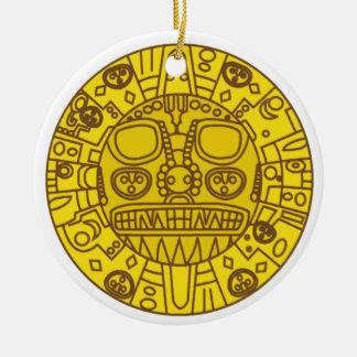 Escudo de armas de Cuzco Adorno Redondo De Cerámica