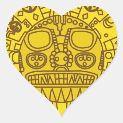 Escudo de armas de Cuzco Pegatina En Forma De Corazón