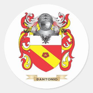 Escudo de armas de D Antonio Pegatina Redonda