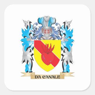 Escudo de armas de DA-Canale - escudo de la Pegatina Cuadrada
