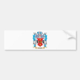 Escudo de armas de Dakin - escudo de la familia Pegatina De Parachoque