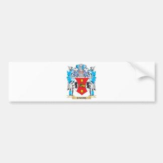 Escudo de armas de Dakins - escudo de la familia Pegatina De Parachoque