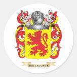 Escudo de armas de Dalla Corte Pegatinas Redondas