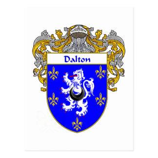 Escudo de armas de Dalton (cubierto) Tarjetas Postales
