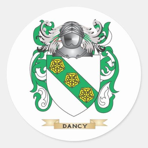 Escudo de armas de Dancy Pegatina Redonda