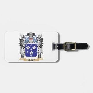 Escudo de armas de Darcy - escudo de la familia Etiquetas Maletas