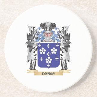 Escudo de armas de Darcy - escudo de la familia Posavasos Manualidades