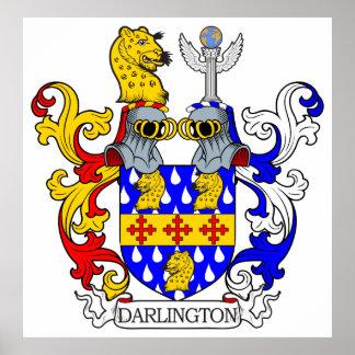 Escudo de armas de Darlington Póster