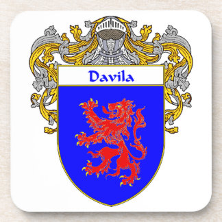 Escudo de armas de Davila/escudo de la familia Posavasos De Bebida