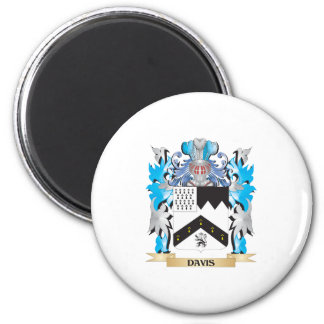 Escudo de armas de Davis - escudo de la familia Iman Para Frigorífico