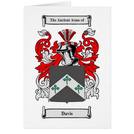 Escudo de armas de Davis (Irlanda) Tarjeta De Felicitación