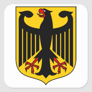 Escudo de armas DE de Alemania Pegatina Cuadrada