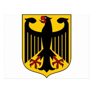 Escudo de armas DE de Alemania Tarjetas Postales