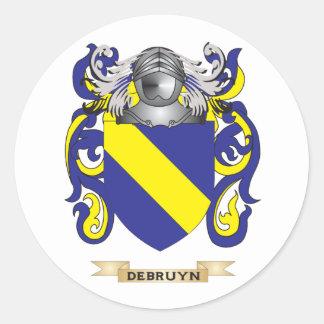 Escudo de armas de De Bruyn Etiqueta Redonda