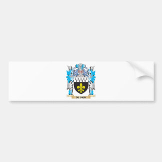Escudo de armas de De-Dick - escudo de la familia Pegatina Para Auto