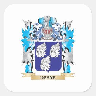 Escudo de armas de Deane - escudo de la familia Calcomanía Cuadradas Personalizadas
