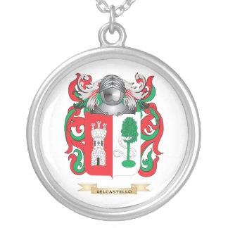 Escudo de armas de Del Castello Colgante Redondo