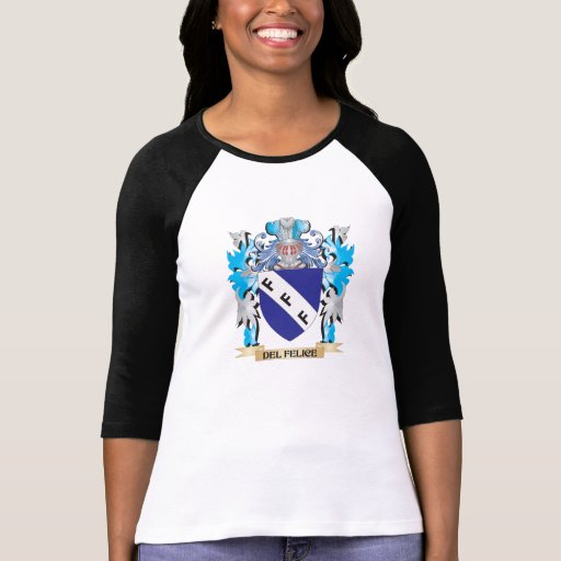 Escudo de armas de Del-Felice - escudo de la Camisetas