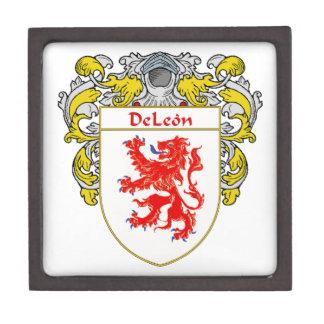 Escudo de armas de DeLeon/escudo de la familia Caja De Recuerdo De Calidad