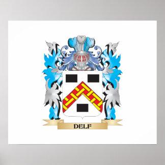 Escudo de armas de Delf - escudo de la familia