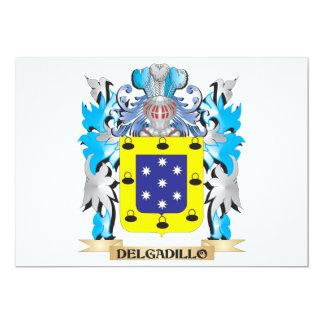 """Escudo de armas de Delgadillo - escudo de la Invitación 5"""" X 7"""""""