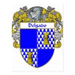 Escudo de armas de Delgado (cubierto) Tarjetas Postales