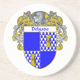 Escudo de armas de Delgado/escudo de la familia Posavasos Para Bebidas