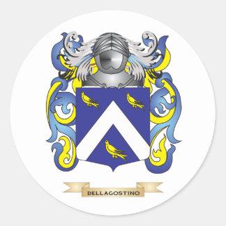 Escudo de armas de Dell Agustín Pegatinas Redondas