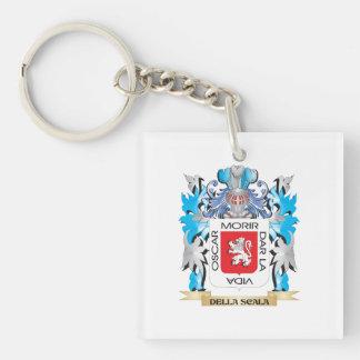 Escudo de armas de Della-Scala - escudo de la Llavero Cuadrado Acrílico A Una Cara