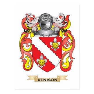 Escudo de armas de Denison Tarjetas Postales