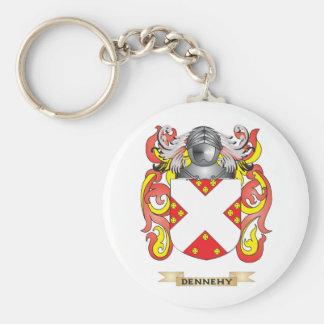 Escudo de armas de Dennehy Llavero Redondo Tipo Pin