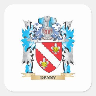 Escudo de armas de Denny - escudo de la familia Pegatina Cuadrada