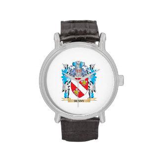 Escudo de armas de Denny - escudo de la familia Relojes De Mano