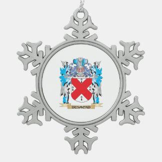Escudo de armas de Desmond - escudo de la familia Adorno De Peltre En Forma De Copo De Nieve