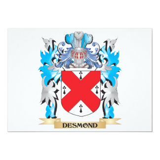 """Escudo de armas de Desmond - escudo de la familia Invitación 5"""" X 7"""""""