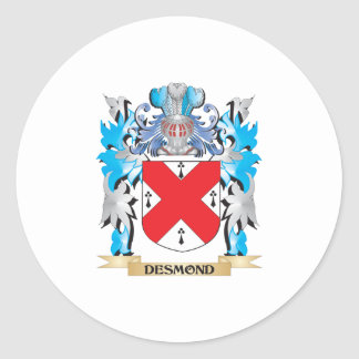 Escudo de armas de Desmond - escudo de la familia Pegatina Redonda